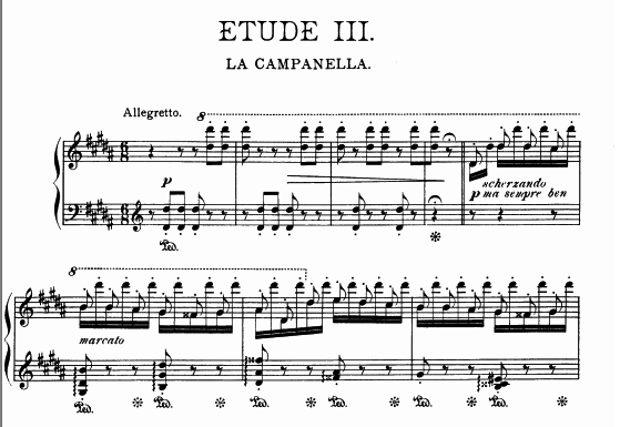 La Campanella sheet music
